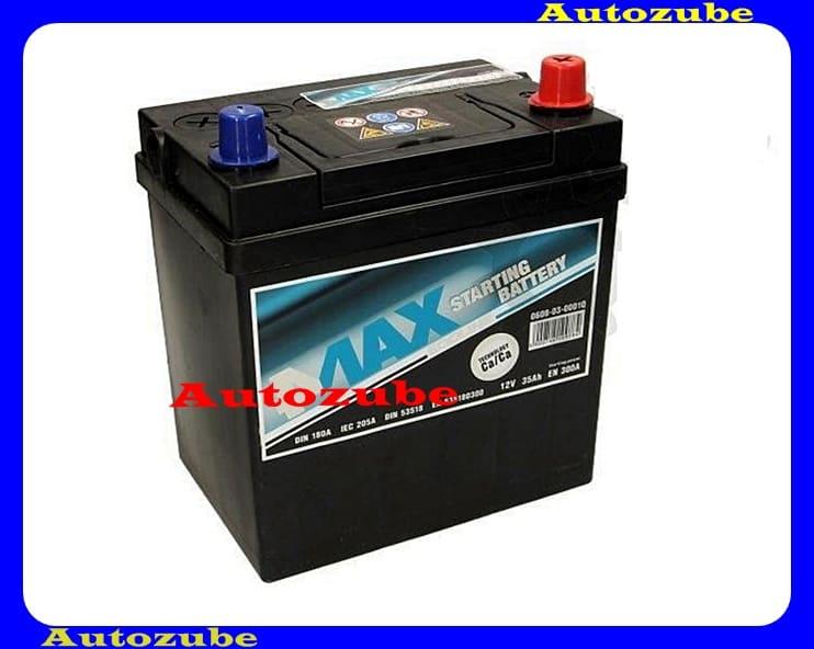 4MAX Akkumulátor 12V 35Ah/300A jobb+, JAPÁN vékony pólus, H:178mm Sz: 127mm M:227mm