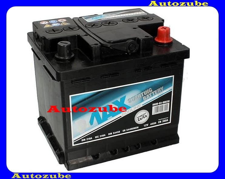 4MAX Akkumulátor 12V 44Ah/360A jobb+, H:210mm Sz: 175mm M:190mm