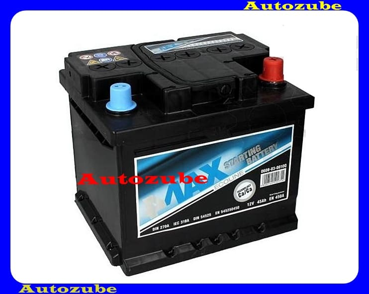 4MAX Akkumulátor 12V 45Ah/450A jobb+, H: