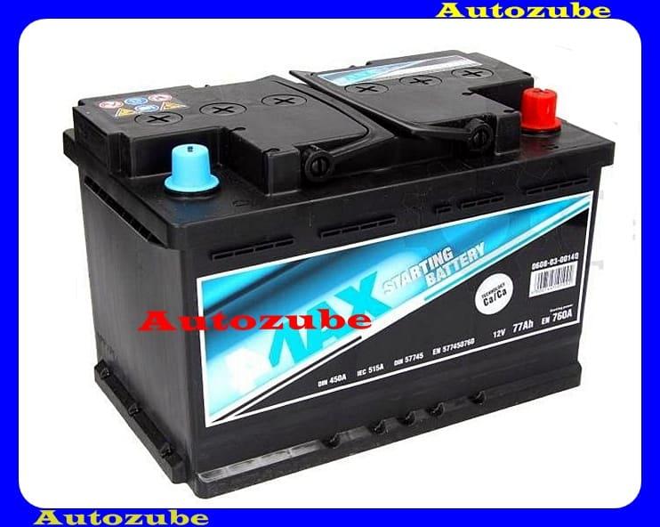 4MAX Akkumulátor 12V 77Ah/760A jobb+, H:278mm Sz: 175mm M:190mm