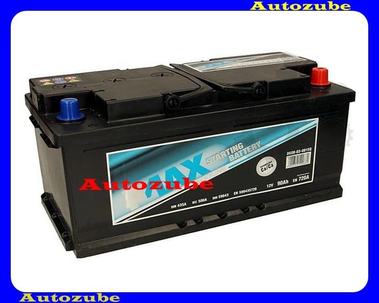 4MAX Akkumulátor 12V 100Ah/800A jobb+, H:305mm Sz: 175mm M:2
