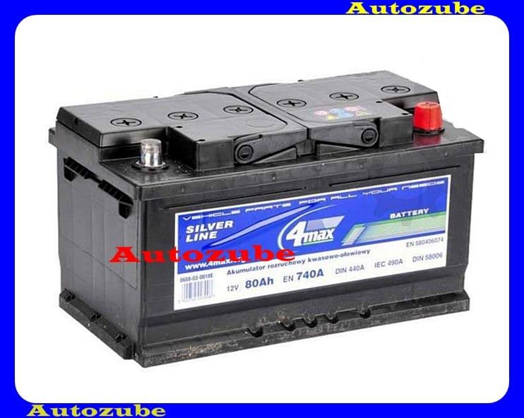 4MAX Akkumulátor 12V 80Ah/7