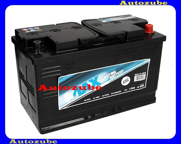 4MAX Akkumulátor 12V 110Ah/850A jobb+, H:348mm Sz: 175mm M:234mm