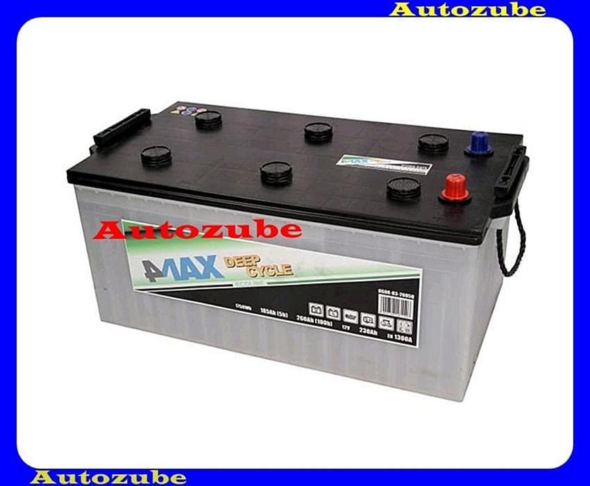 4MAX Akkumulátor 12V 230Ah/1300A bal+, H:518mm Sz: 273mm M:237mm /Pótkocsi, motorcsónak, generátor/ EFBBattery energy [Wh]: 1300, 4MAX