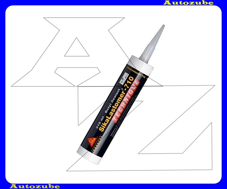 Tömítőanyag. Fekete, butil bázísú plasztoelasztikus, későbbi oldásra. SIKALASTOMER-710. 310 mL kartus