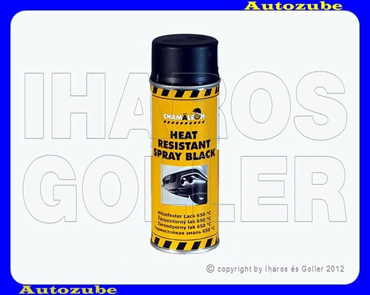 Festék, hőálló, fekete CHAMELEON, 0,4Liter (spray) Hőállóság: 650 °C-ig