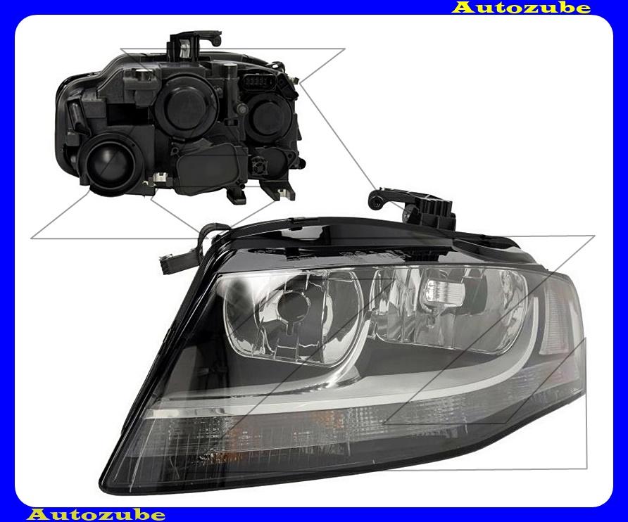Fényszóró bal (2xH7/LED) nappali fényes, motorral  {TYC}