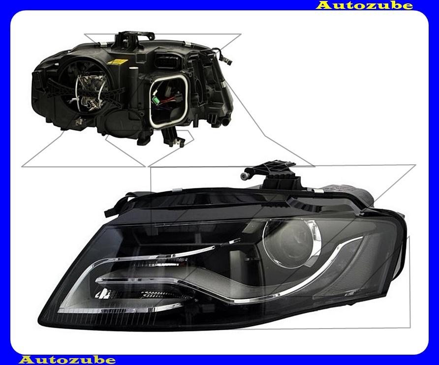 Fényszóró bal XENON (D3S/LED) nappali fénnyel, motorral (izzó és elektronika nélkül)  {DEPO}