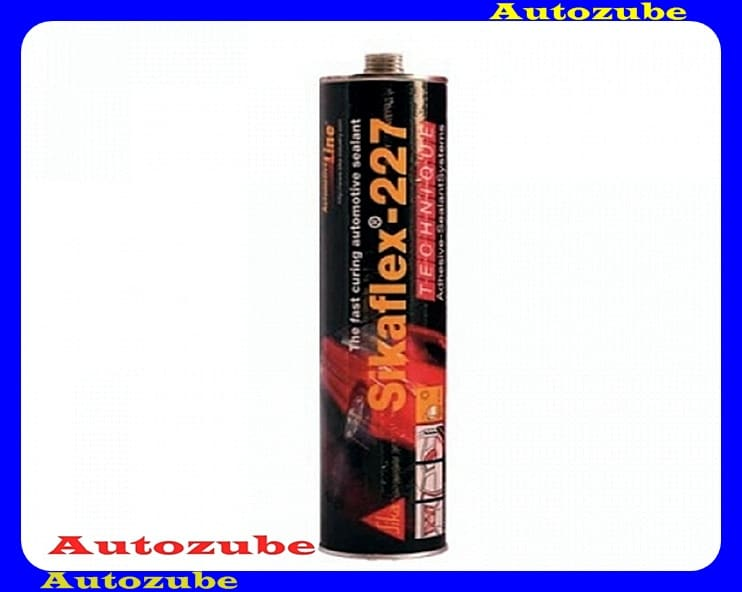 Tömítőanyag. Fekete, egykomponensű, járműjavításhoz kifejlesztett poliuretán. SIKAFLEX-227. 300 mL. kartus