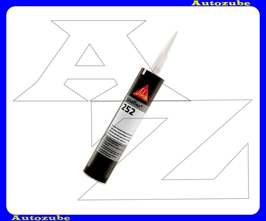 Ragasztóanyag. Fekete, egykomponensű rugalmasra kötő poliuretán. SIKAFLEX-252. 300mL. kartus