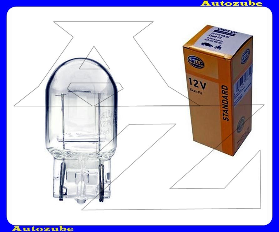 Izzó W21W,  12V_21W  (W3x16d) üvegtalpas {HELLA}
