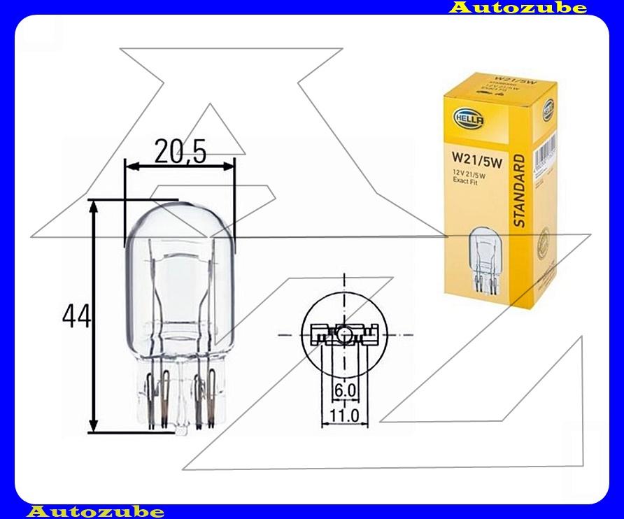 Izzó W21/5W 12V_21/5W  (W3x16q) üvegtalpas {HELLA}
