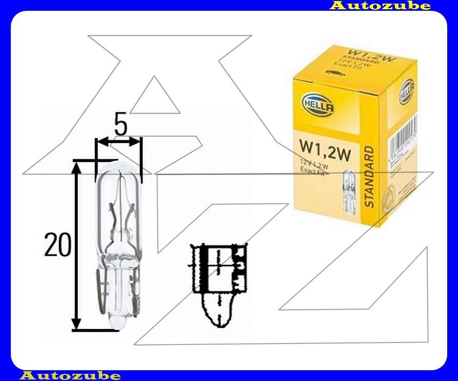 Izzó W1.2W 12V_1,2W  (W2x4.6d) üvegtalpas {HELLA}