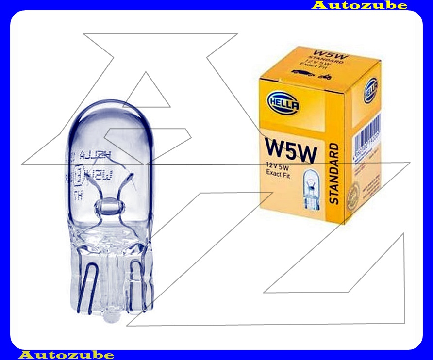 Izzó W5W 12V_5W (W2,1x9,5d) üvegtalpas {HELLA}