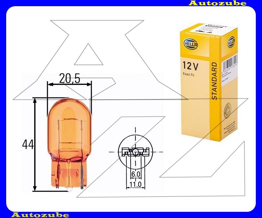 Izzó WY21W 12V_21W sárga, üvegtalpas {HELLA}