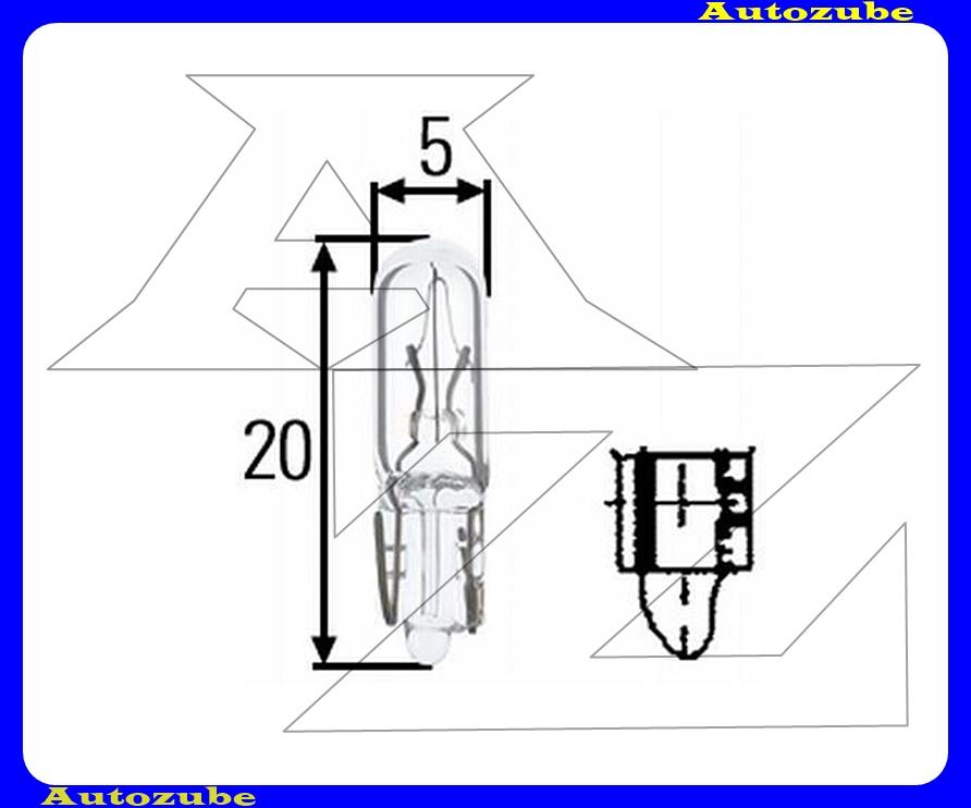 Izzó pótfékláma 12V_2,3 W  (W2x4,6 d)  {HELLA}