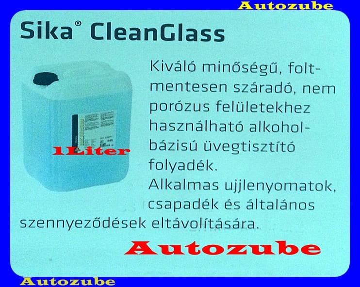 Ragasztás előkészítő folyadék, SIKA CLEANGLASS.  1 Liter