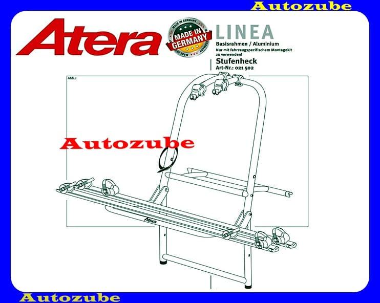 Hátsó kerékpártartó alumínium, 2 kerékpárhoz (nem komplett) ATERA LINEA