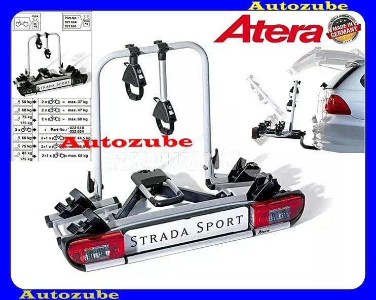 Hátsó kerékpártartó vonóhorogra, 2db kerékpárhoz ATERA STRADA SPORT M2