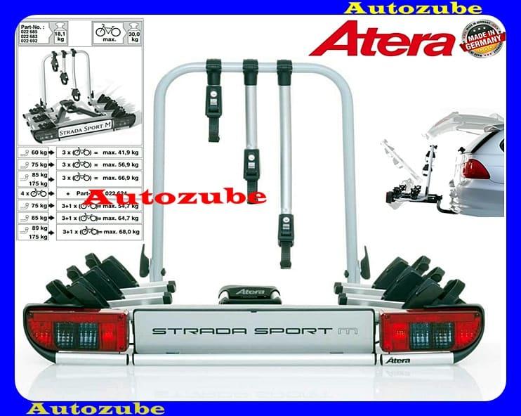 Hátsó kerékpártartó vonóhorogra, 3db kerékpárhoz ATERA STRADA SPORT M3