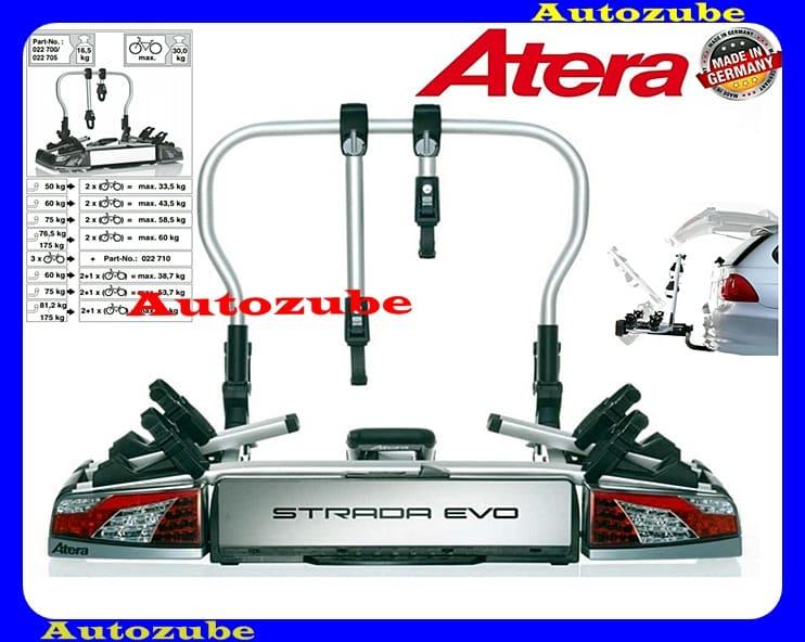 Hátsó kerékpártartó vonóhorogra, 2db kerékpárhoz ATERA STRADA EVO2