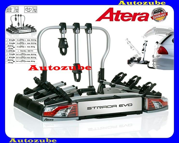 Hátsó kerékpártartó vonóhorogra, 3db kerékpárhoz ATERA STRADA EVO3