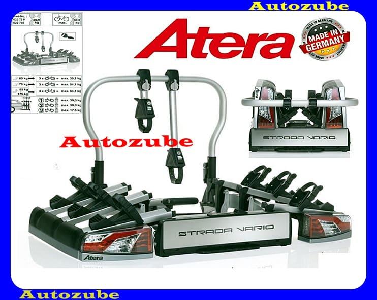 Hátsó kerékpártartó vonóhorogra, 3db kerékpárhoz (összecsukható) ATERA STRADA VARIO3