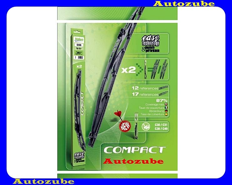 Ablaktörlő lapát első 2db/650mm (C65)  {VALEO} COMPACT