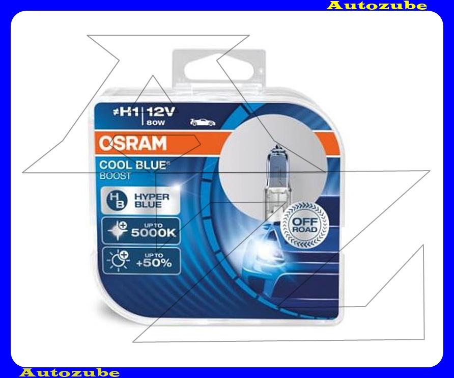 Izzó szett H1 12V_80W +50% Cool Blue Boost (2db) Színhőmérséklet 5000K, Fényerő 1150 lm {OSRAM}