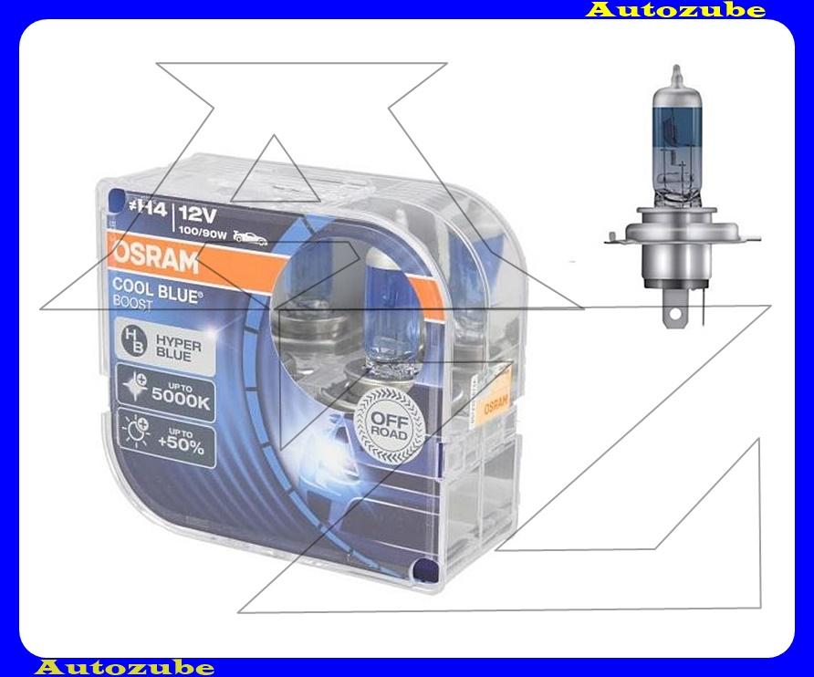 Izzó szett H4 12V_100/90W +50% Cool Blue Boost (2db) Színhőmérséklet 5000K {OSRAM}