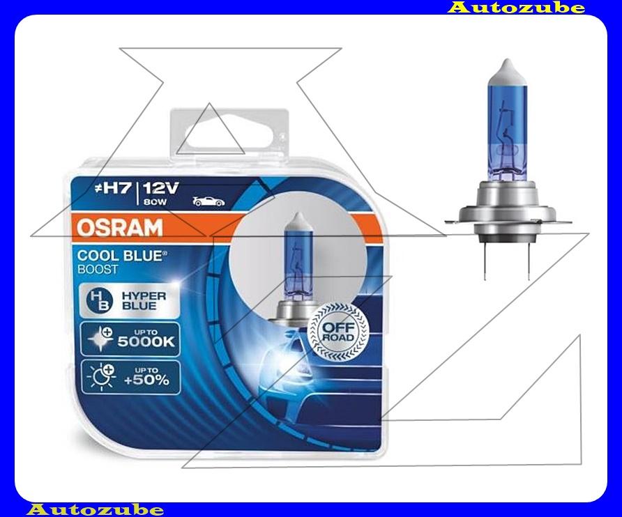 Izzó szett H7 12V_80W +50% Cool Blue Boost (2db) Színhőmérséklet 5200K, Fényerő 1100 lm {OSRAM}