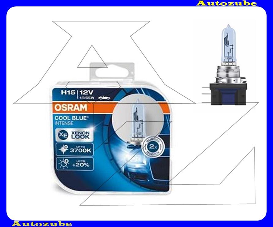Izzó szett H15 12V_55/15W +50% Cool Blue Intense (2db) Színhőmérséklet 3700K {OSRAM}