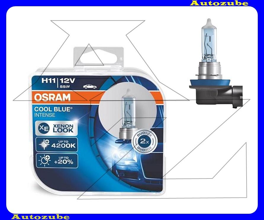 Izzó szett H11 12V_55W +20% Cool Blue Intense (2db) Színhőmérséklet 4200K {OSRAM}