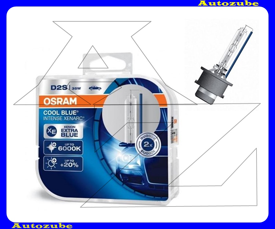 Izzó szett XENON D2S 12V_35W +20% Cool Blue Intense Xenarc (2db) Színhőmérséklet 6000K {OSRAM}