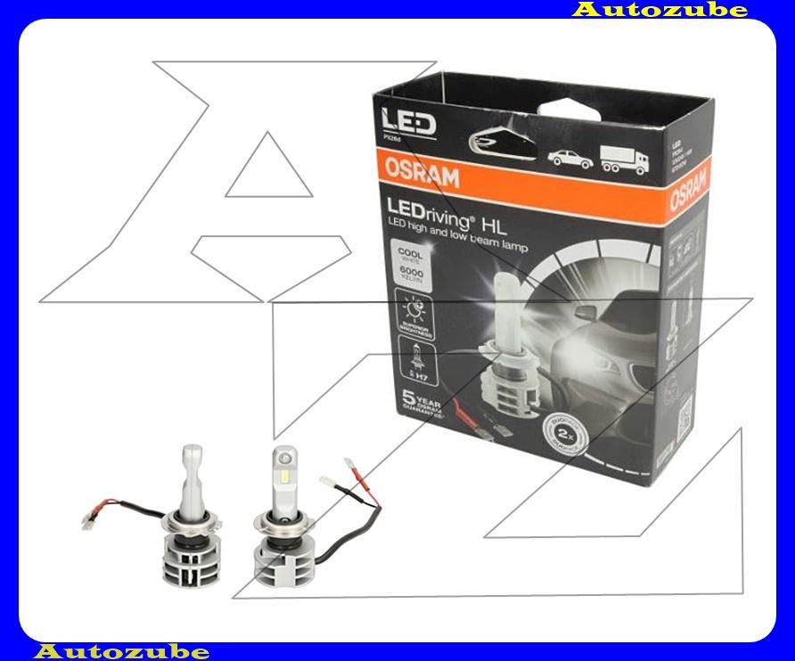 Izzó szett LED 12V/24V_16,9W H7 foglalatú (2db) Fényerő 1215 lm {OSRAM}