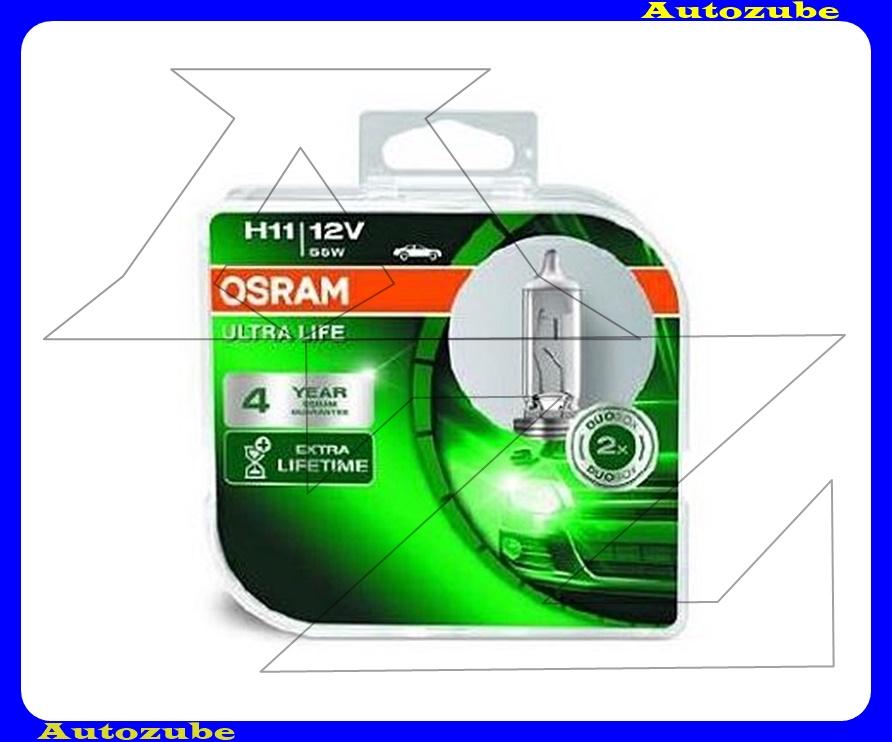 Izzó szett H11 12V_55W Ultra Life (2db) 4év OSRAM garancia Színhőmérséklet 3200 {OSRAM}