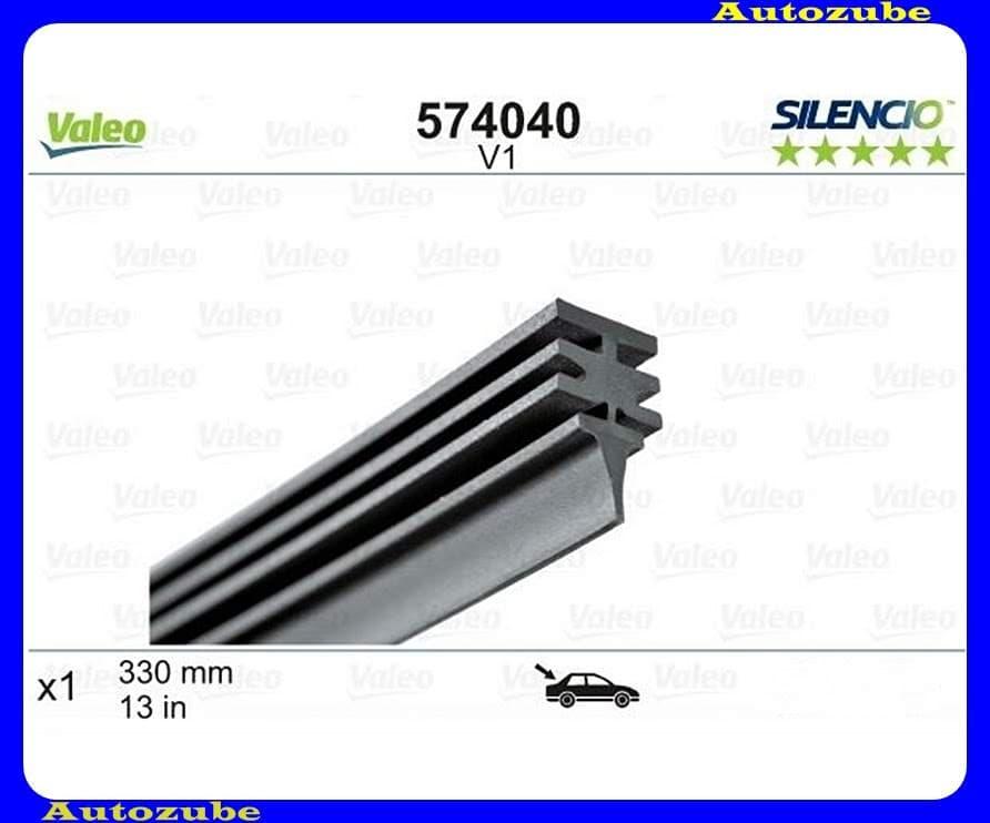 Ablaktörlő gumi Hátsó 1db/330mm (V1)  {VALEO} SILENCIO REFILLS