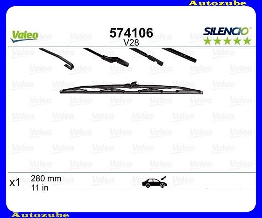 Ablaktörlő lapát Hátsó 1db/280mm (V28)  {VALEO} SILENCIO STANDARD