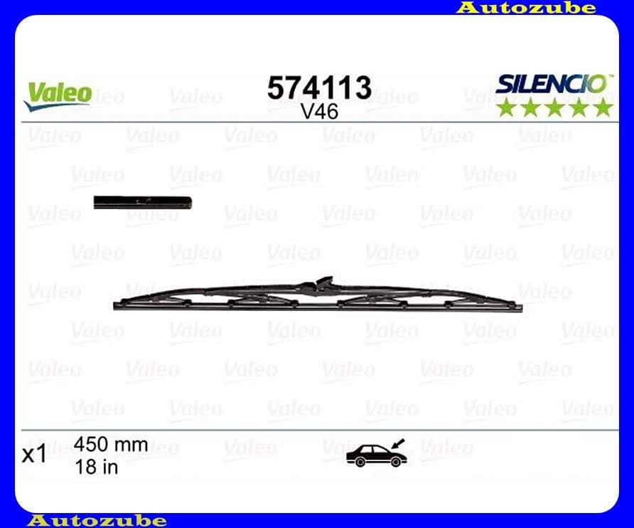 Ablaktörlő lapát első oldalfüggetlen 1db/450mm (V46)  {VALEO} SILENCIO STANDARD