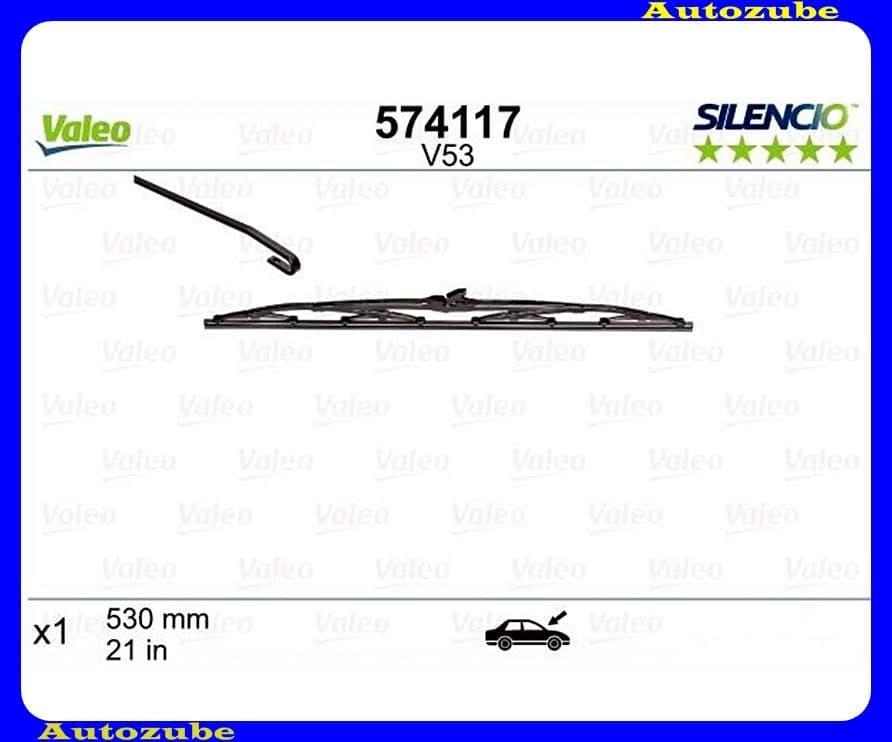 Ablaktörlő lapát vezető oldal 1db/530mm (V53)  {VALEO} SILENCIO STANDARD