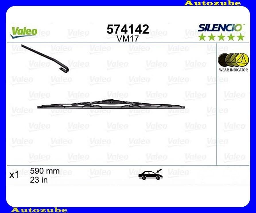 Ablaktörlő lapát első 1db/590mm (VM17)  {VALEO} SILENCIO PERFORMANCE