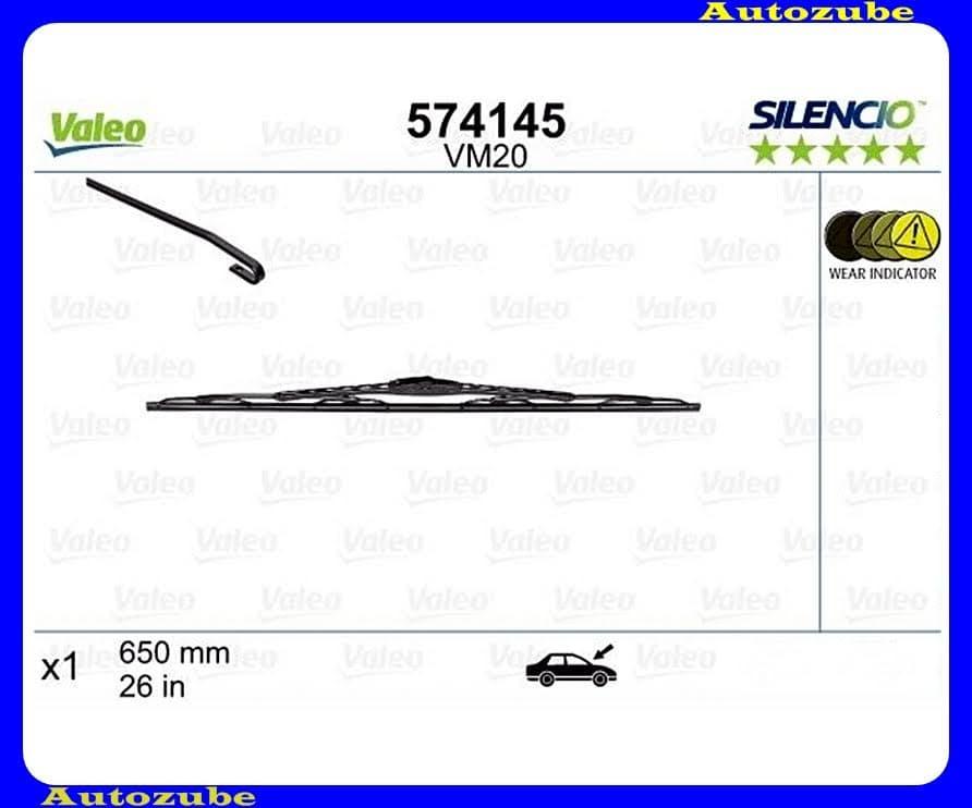 Ablaktörlő lapát első 1db/650mm (VM20)  {VALEO} SILENCIO PERFORMANCE
