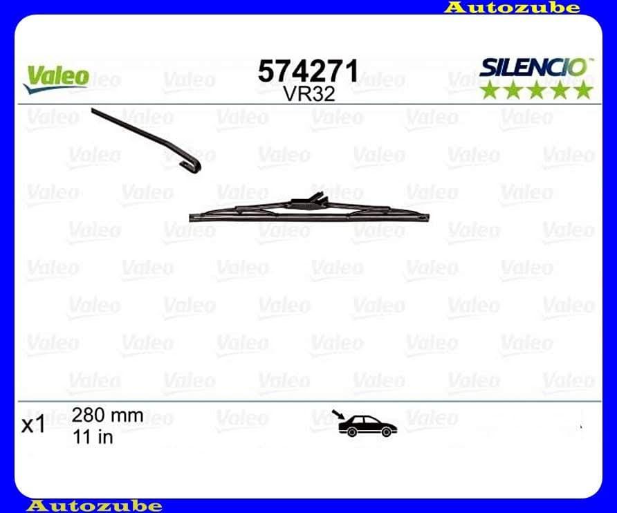 Ablaktörlő lapát Hátsó 1db/280mm (VR32)  {VALEO} SILENCIO PERFORMANCE