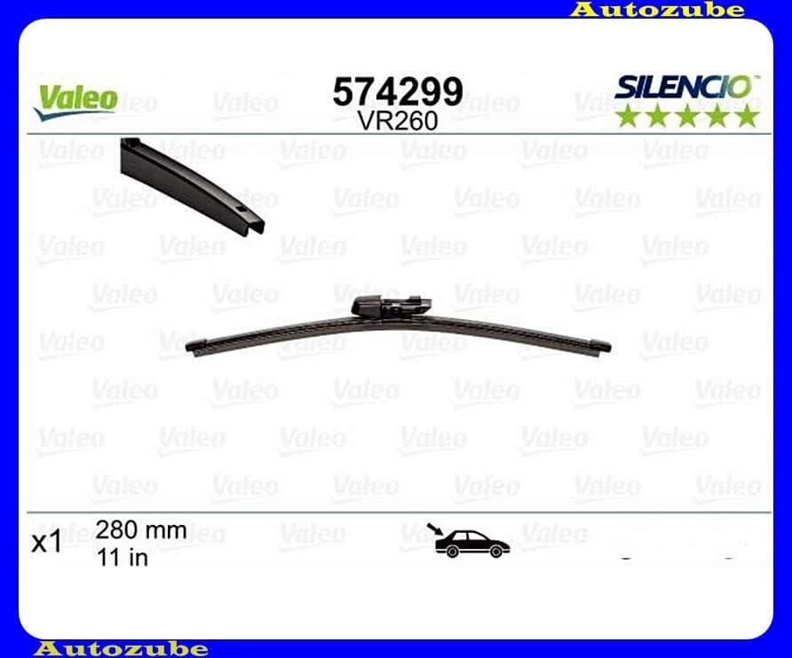 Ablaktörlő lapát Hátsó 1db/280mm (VR260)  {VALEO} SILENCIO X-TRM