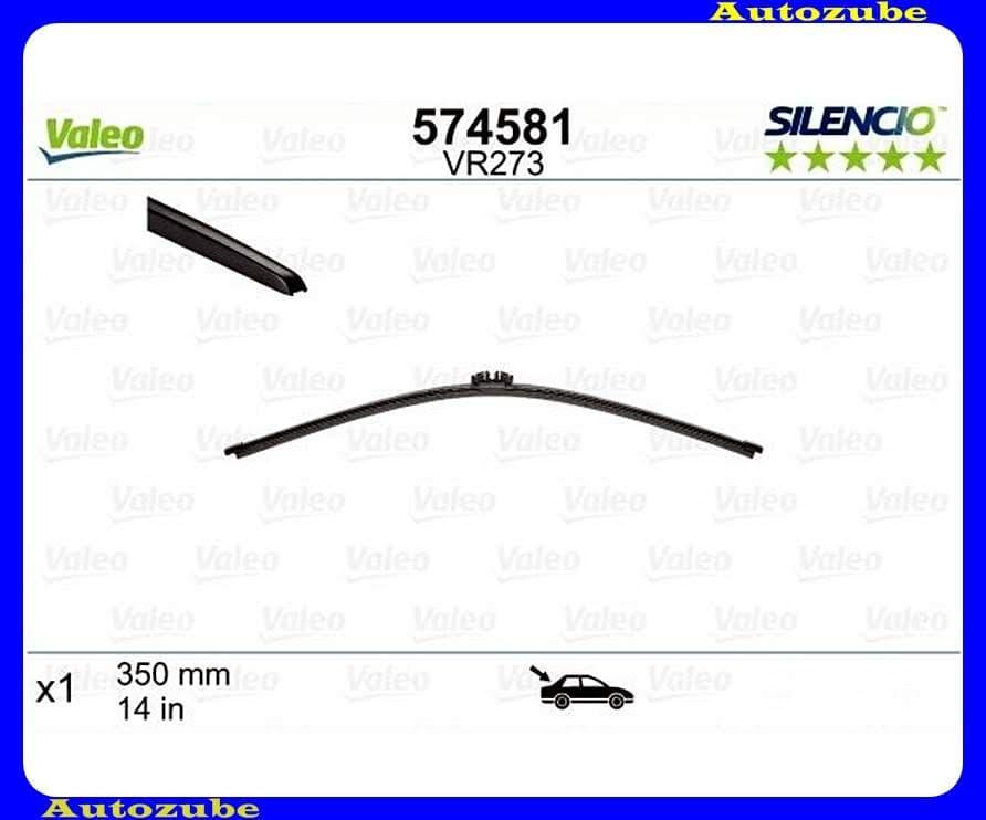 Ablaktörlő lapát hátsó 1db/340mm (VR273)  {VALEO} SILENCIO X-TRM
