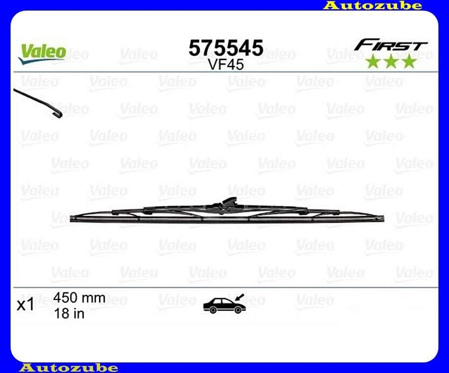 Ablaktörlő lapát univerzális 1db/450mm (VF45)  {VALEO} FIRST