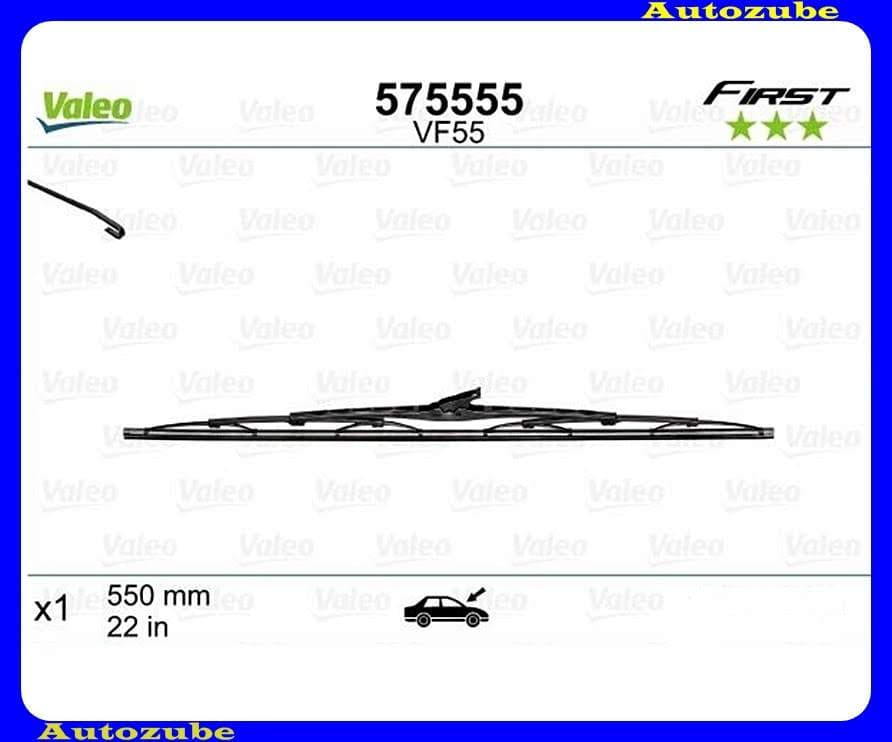 Ablaktörlő lapát univerzális 1db/550mm (VF55)  {VALEO} FIRST