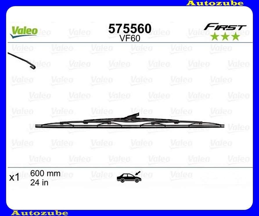 Ablaktörlő lapát univerzális 1db/600mm (VF60)  {VALEO} FIRST