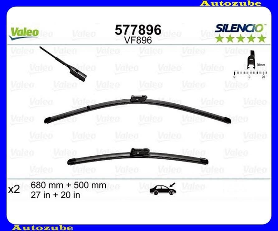 Ablaktörlő lapát szett első 2db/650-500mm (VF896)  {VALEO} SILENCIO X-TRM