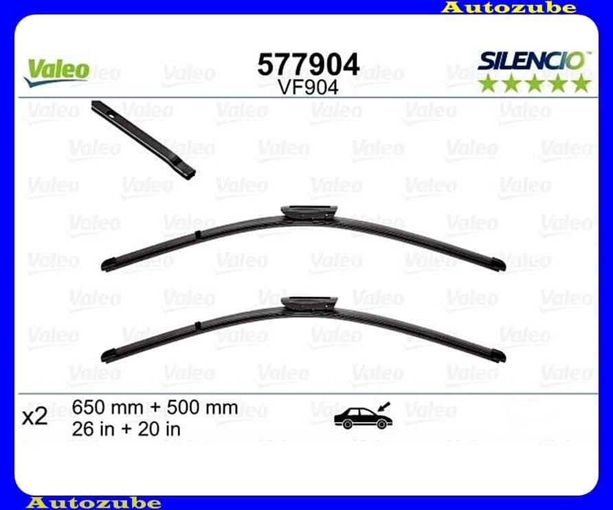 Ablaktörlő lapát szett első 2db/650-500mm (VF904)  {VALEO} SILENCIO X-TRM